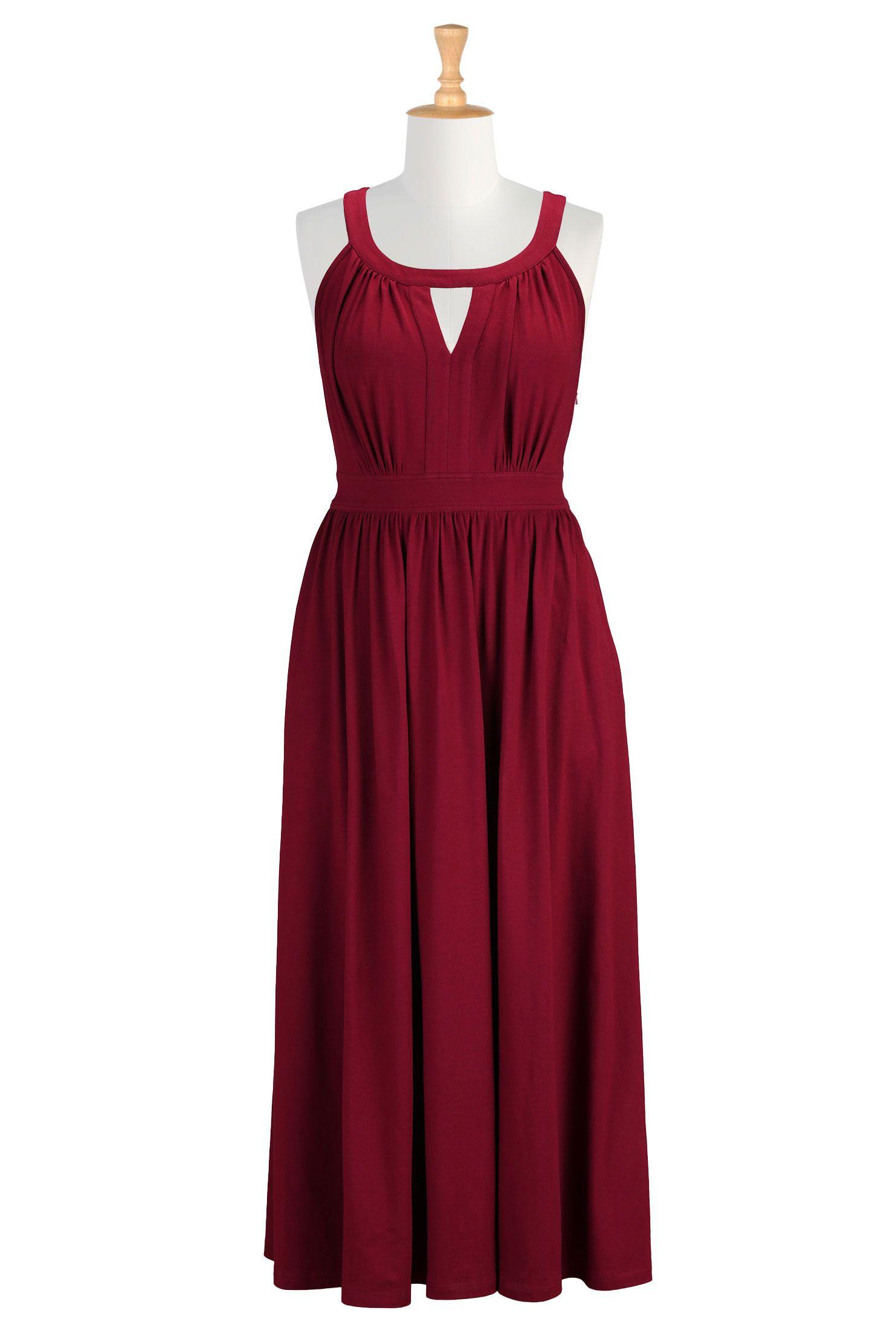 Cotton knit dresses plus size maxi dresses for spring shop womens