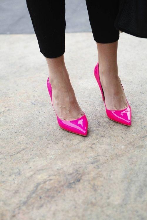 Liz Walker on FOOTWEAR | Pink shoes