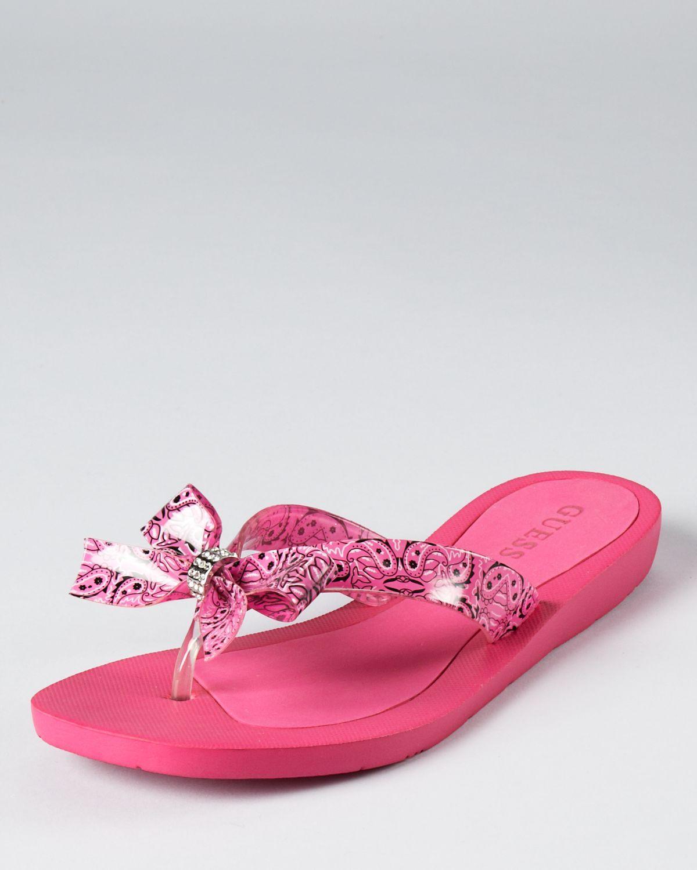 d01e840c88f405 GUESS Sandals - Tutu Bow Flip Flops