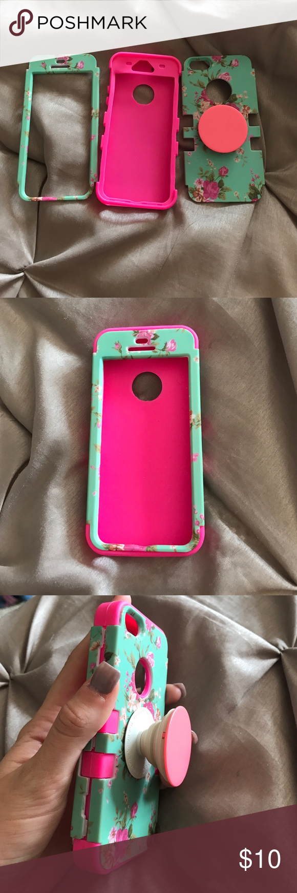 meet e7b6a 63080 Phone case Very secure on your phone! Perfect condition. Pop socket ...