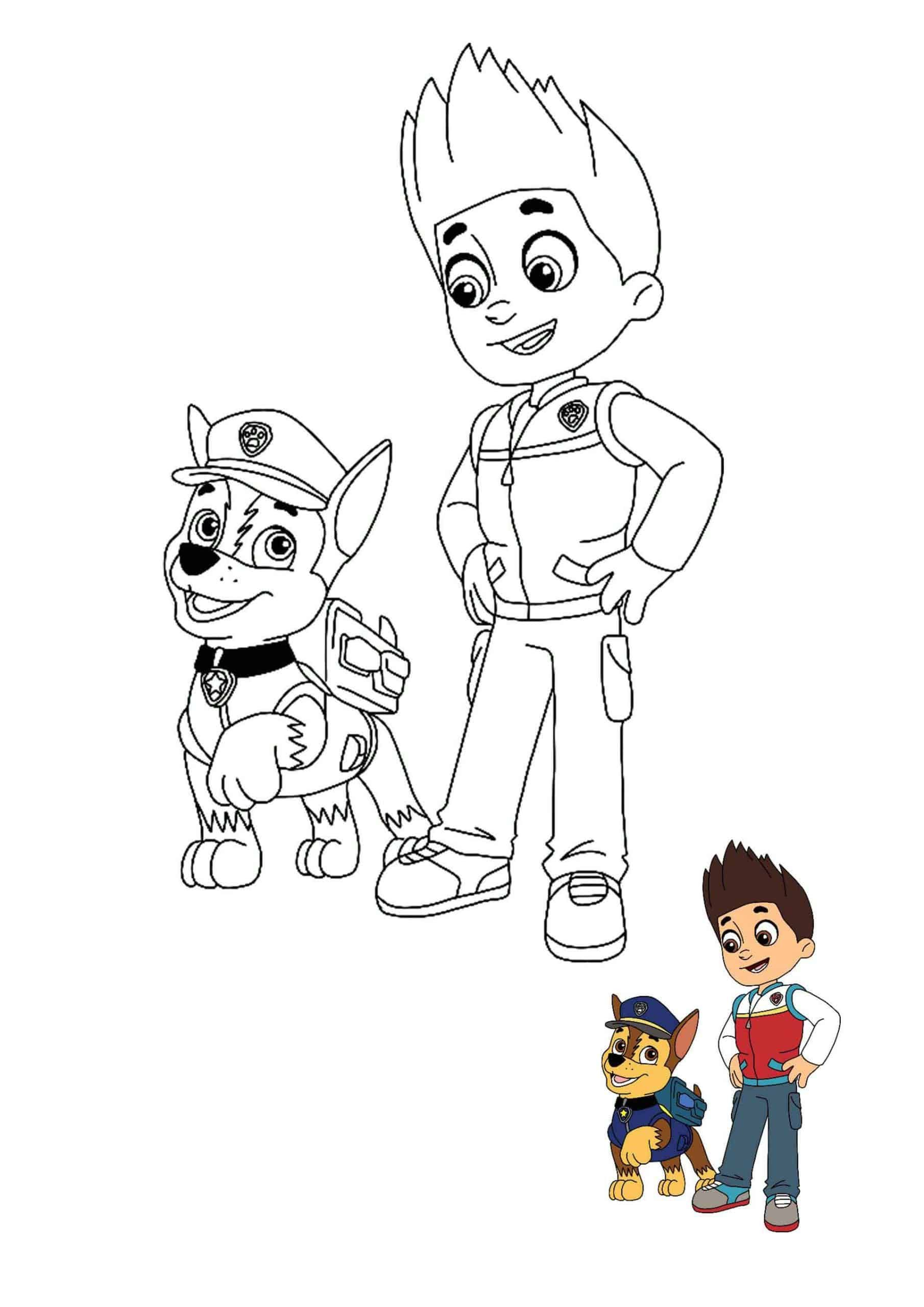 Paw Patrol Ryder And Chase Coloring Sheet Unicorn Coloring Pages Paw Patrol Coloring Pages Paw Patrol Coloring