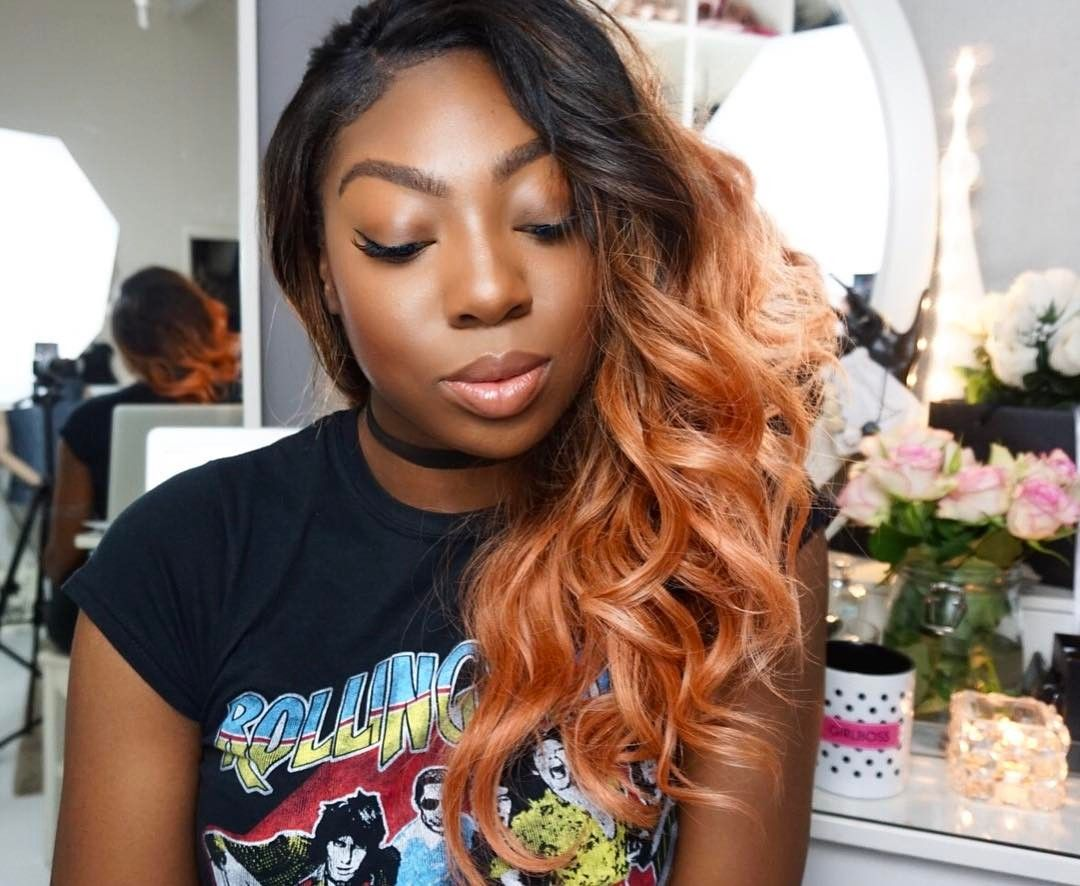 Rose gold hair pink peach color pictures hair style pinterest