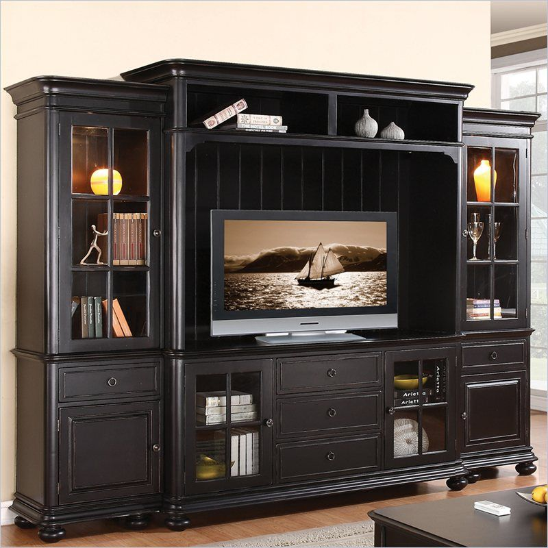 Riverside Furniture Beacon Point Tv Entertainment Center In Pepper
