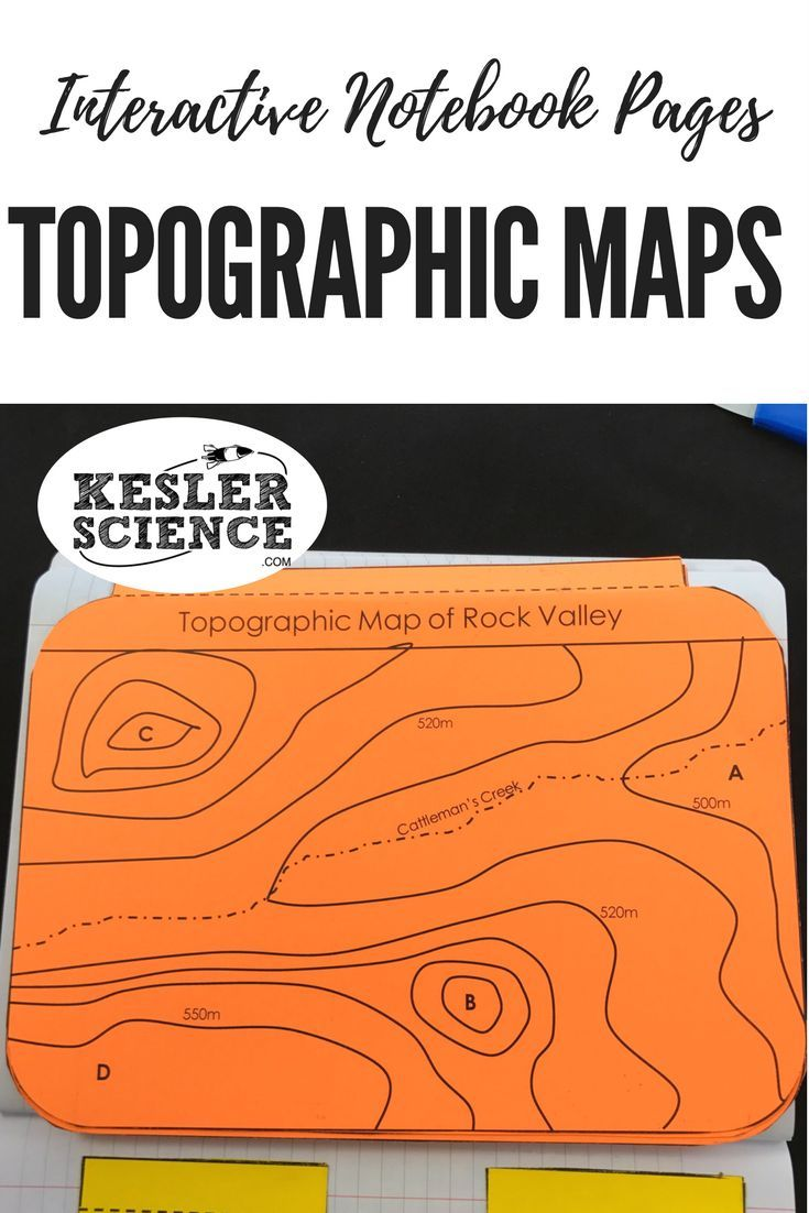 Earth Science Interactive Notebook Pages Teaching Earth Science - Interactive topo map