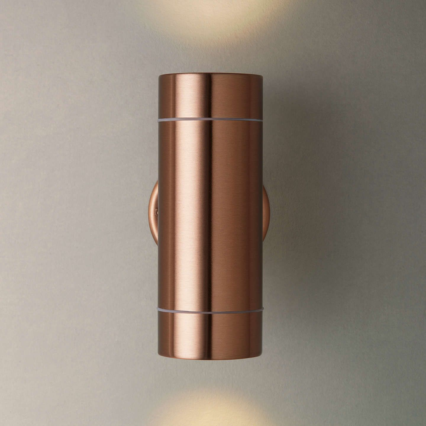 John lewis strom led outdoor wall light copper outdoor lighting