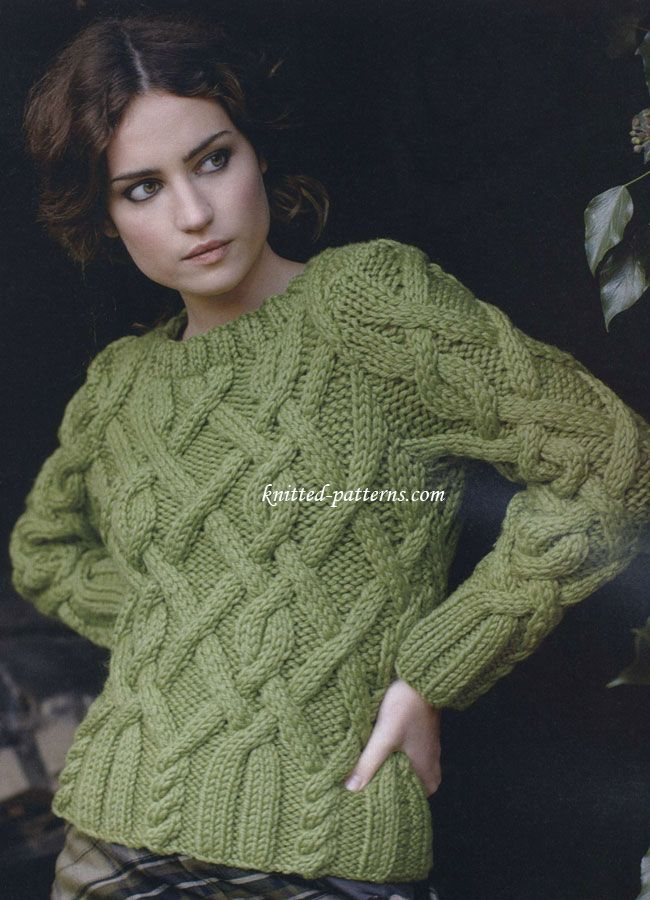 Homeland Cabled Jumper By Martin Storey Free Knitting P 12 Hva