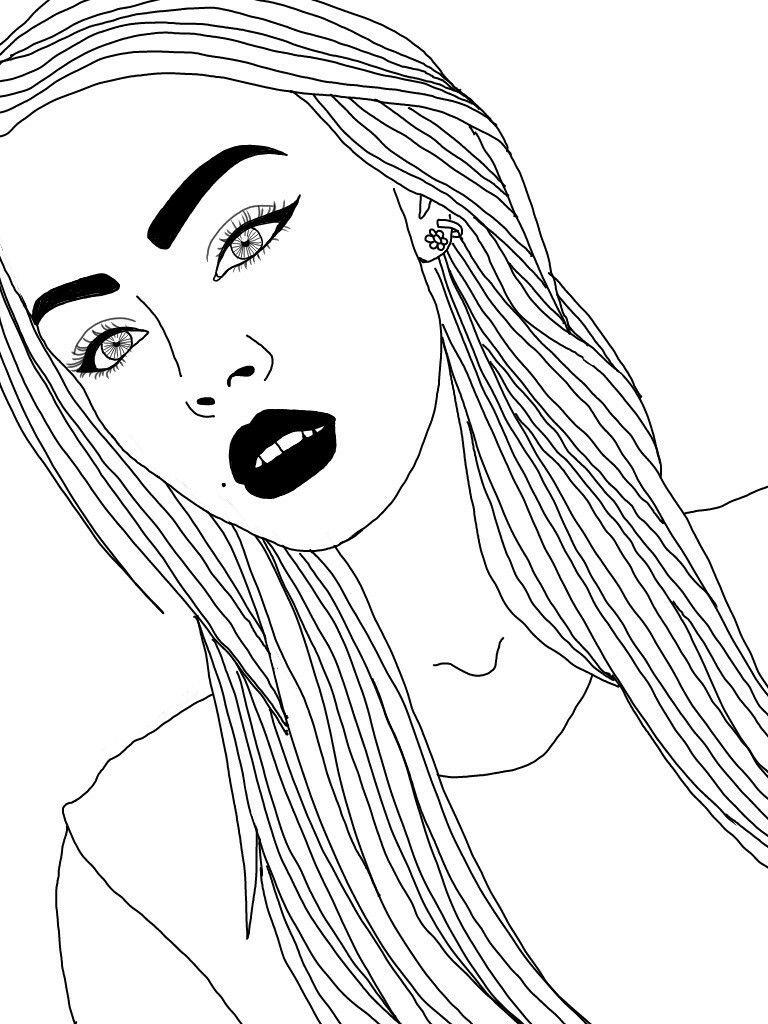 картинки рисовать черно белые миддлтон одна тех