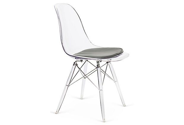 Nybro Shell Chair Clear Gray On Onekingslane Com Clear