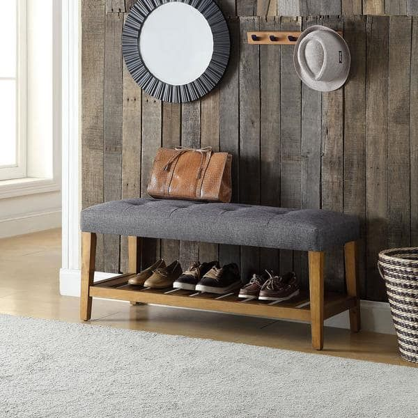 Havenside Home Ventura Multicolor Tufted Fabric Bench | A certain ...