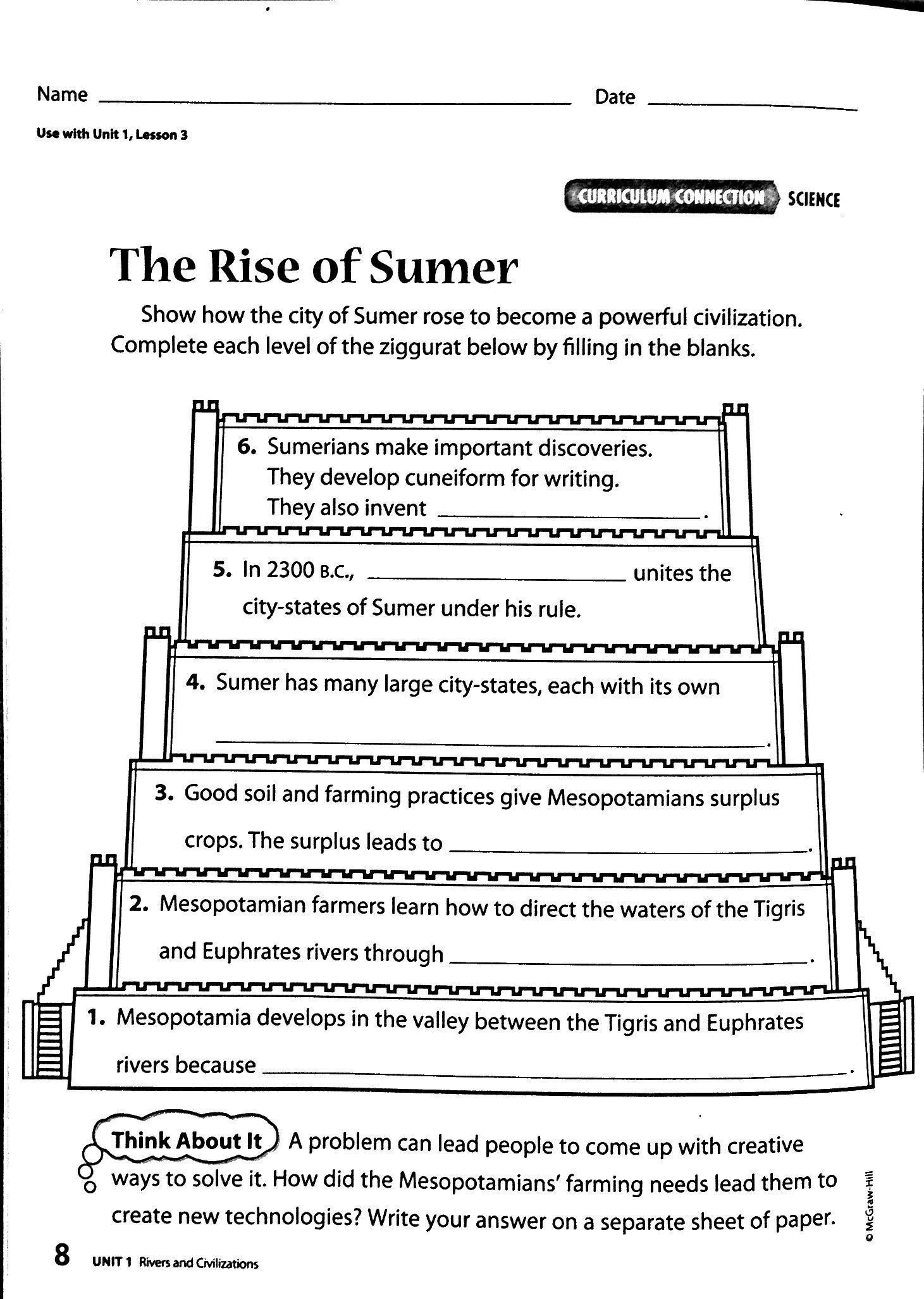Worksheets Mesopotamia Worksheets image result for sumerians math waldorf fifth grade pinterest math