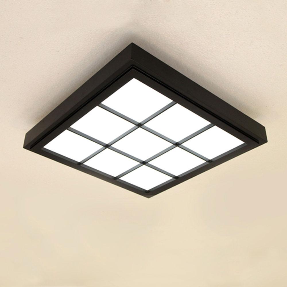 Led Deckenleuchte Aus Holz In Schwarz Fur Wonhzimmer In 2020 Led Ceiling Lights Black Ceiling Lighting Ceiling Lights