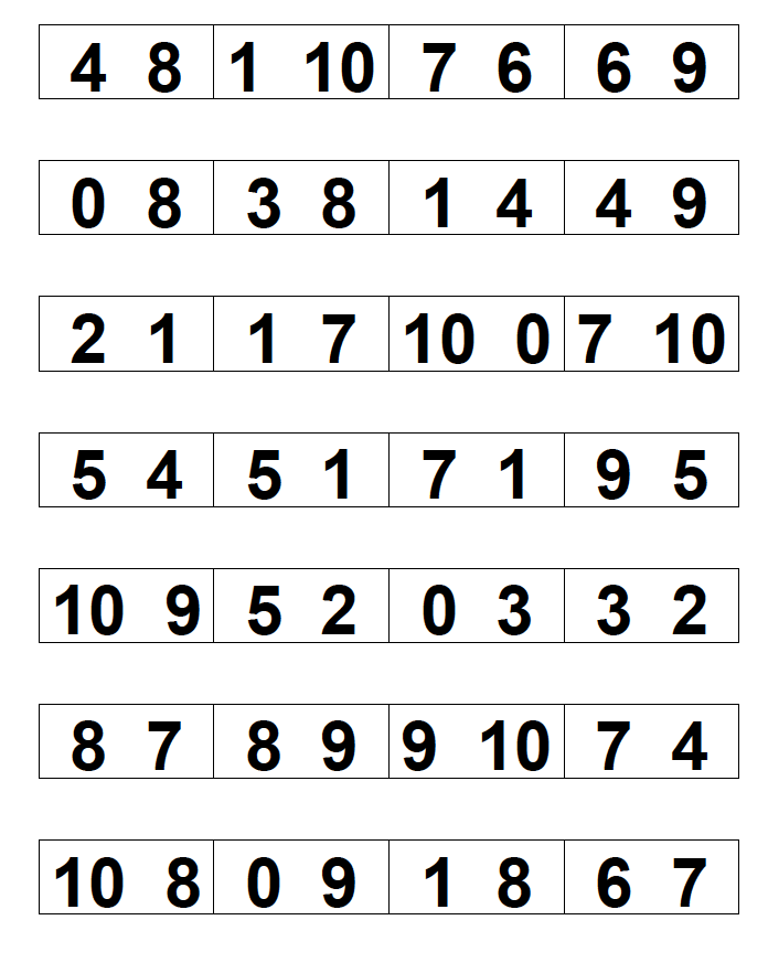 Teacher created game for reviewing missing number and quantity ...