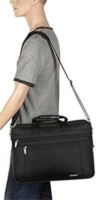 modern and elegant in fashion offer cheap price Samsonite Classic Two Gusset 17 inch Toploader Laptop Bag ...