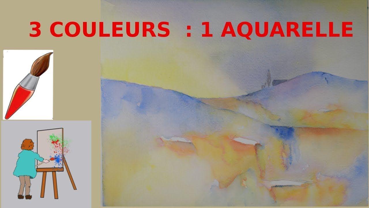 Une Aquarelle Facile Avec Les 3 Couleurs Primaires Youtube Avec
