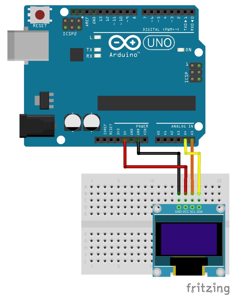 H hacks display animation on oled using arduino i c