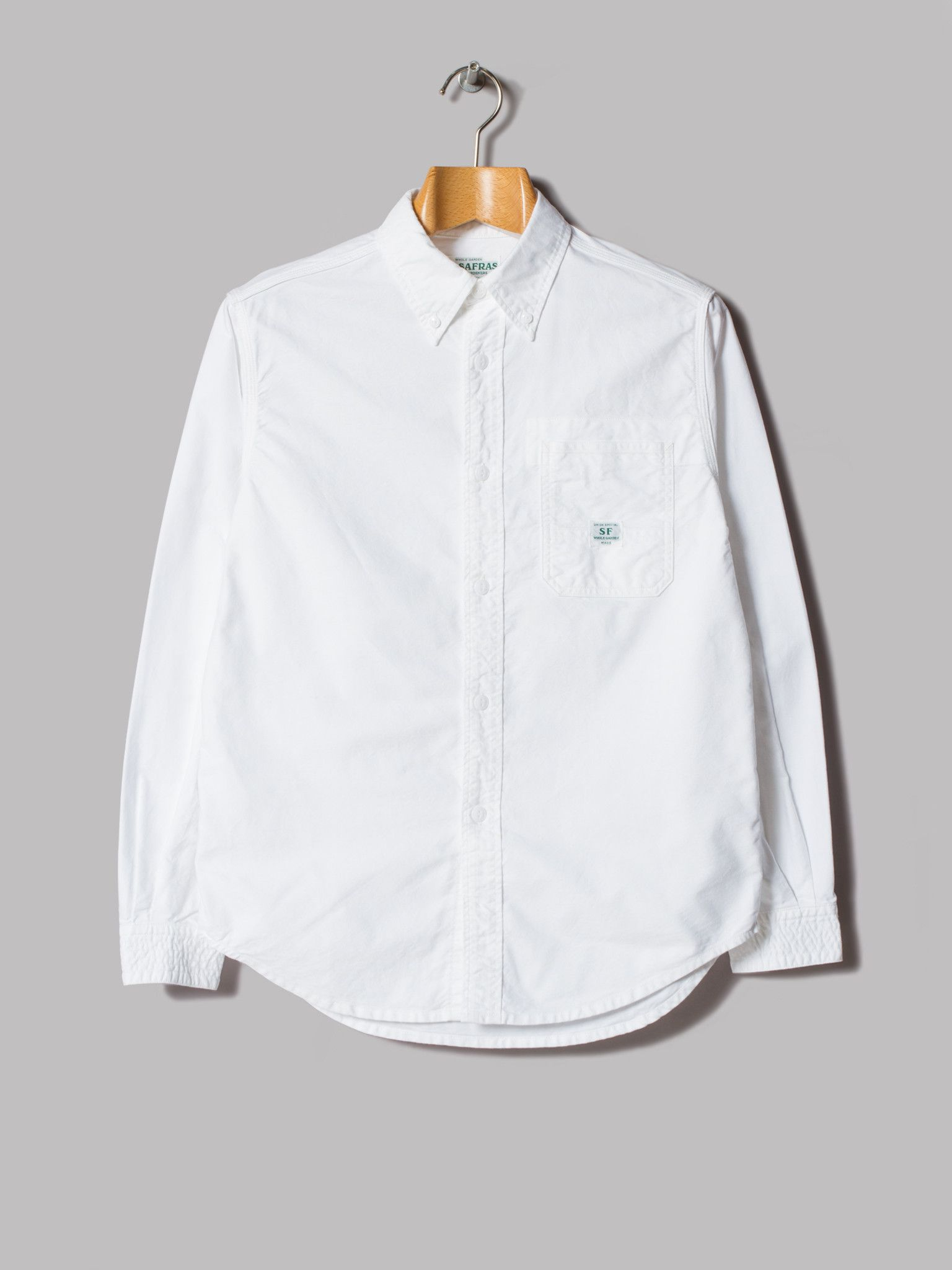 Sassafras Green Thumb Shirt (White Organic Oxford)
