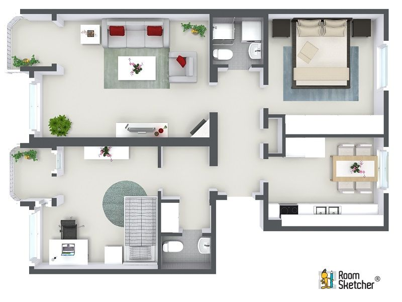 Are You A Design Professional Create Gorgeous Full Color 3d Floor Plans That Will Impress Your Clients With Rooms House Design Small House Plans House Layouts