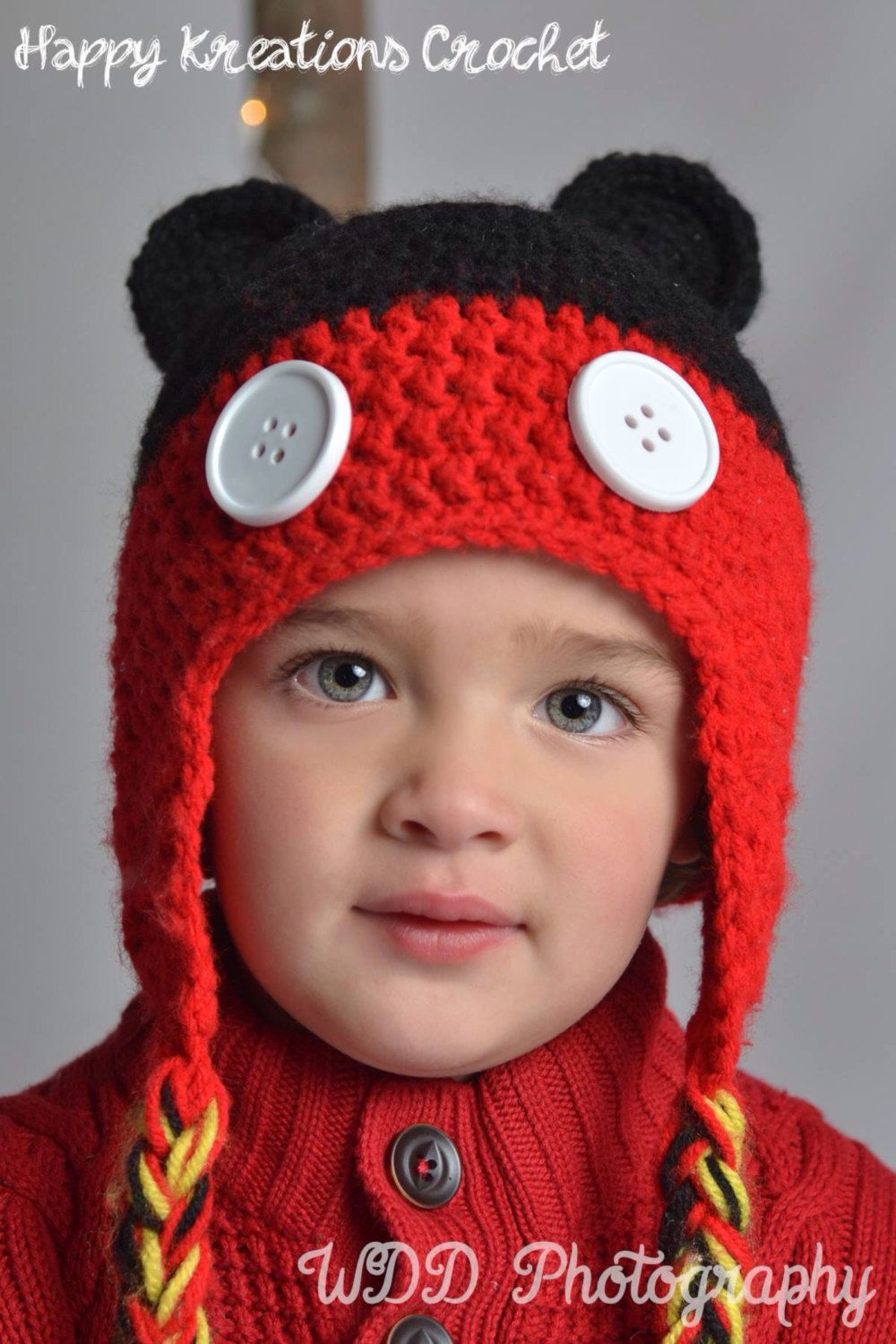 Crochet Mickey Mouse Hat by HappyKreations00 on Etsy | Happy
