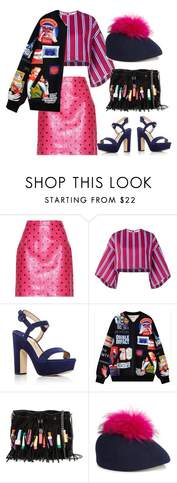 """""""Mixing"""" by psicomayte30 ❤ liked on Polyvore featuring Yves Saint Laurent, Stella Jean, Paul Andrew, Chicnova Fashion, STELLA McCARTNEY and Eugenia Kim"""