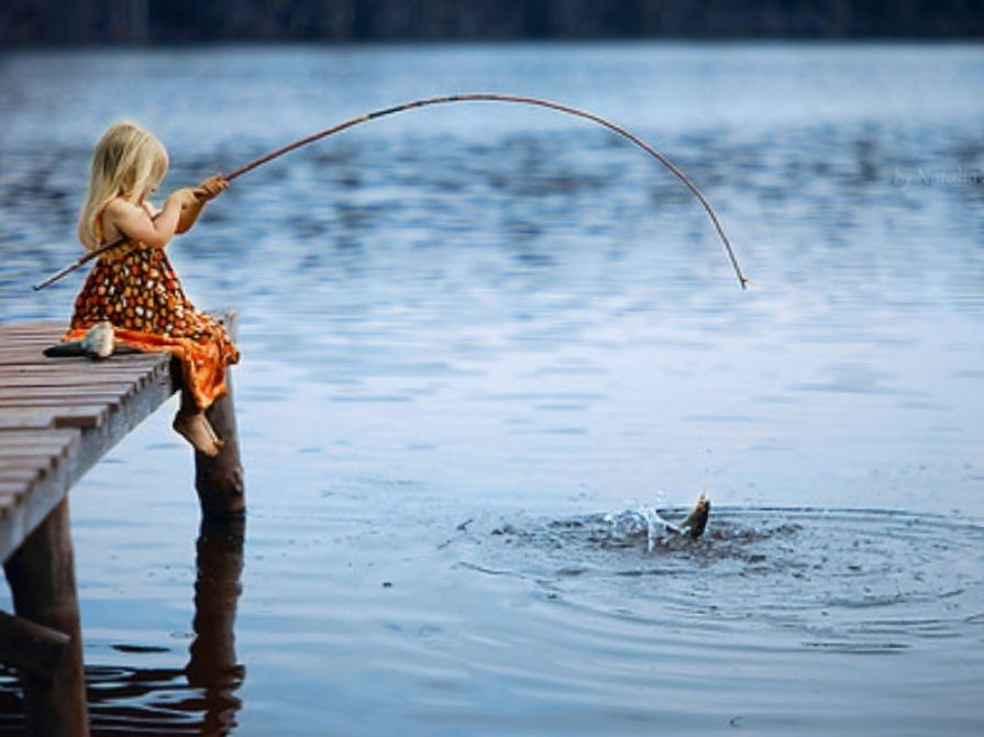Cane pole fishing memories i want a puppy pinterest for Girl fishing pole