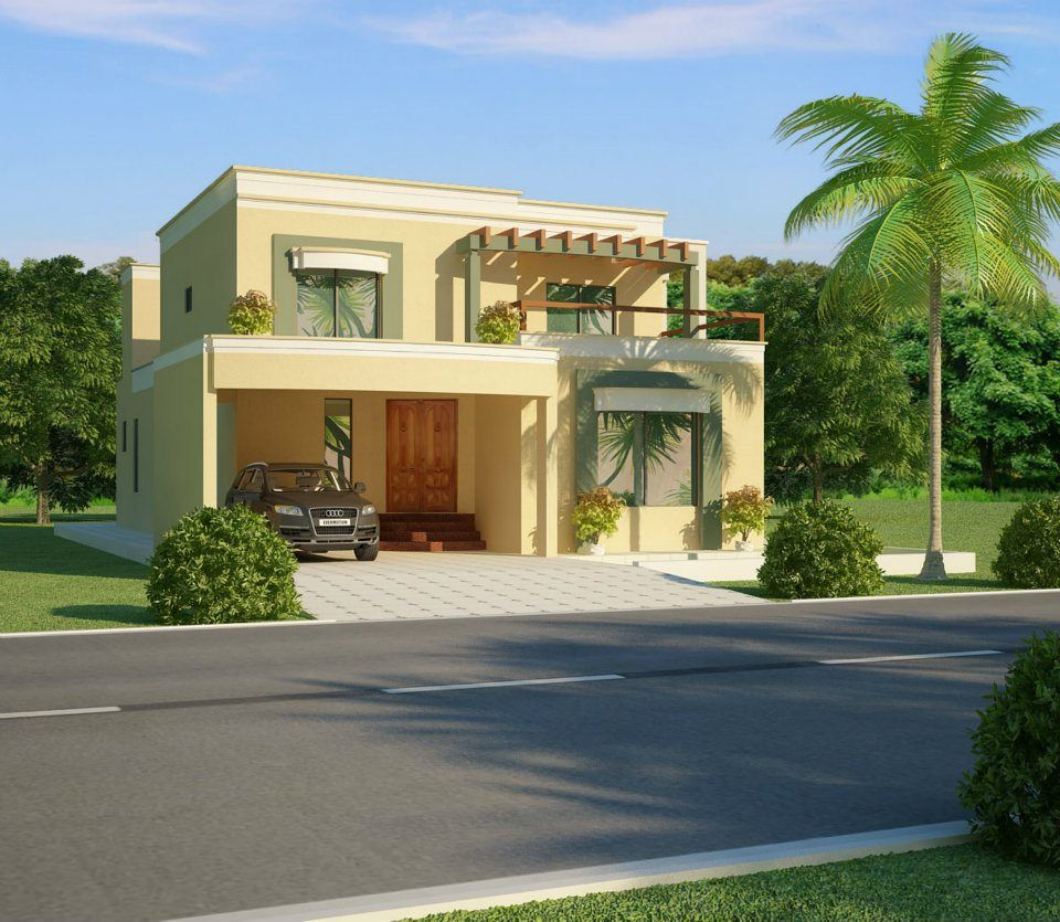 House Beautiful Home Exteriors House In Lahore Beautiful House Designs 3d Front Elevation