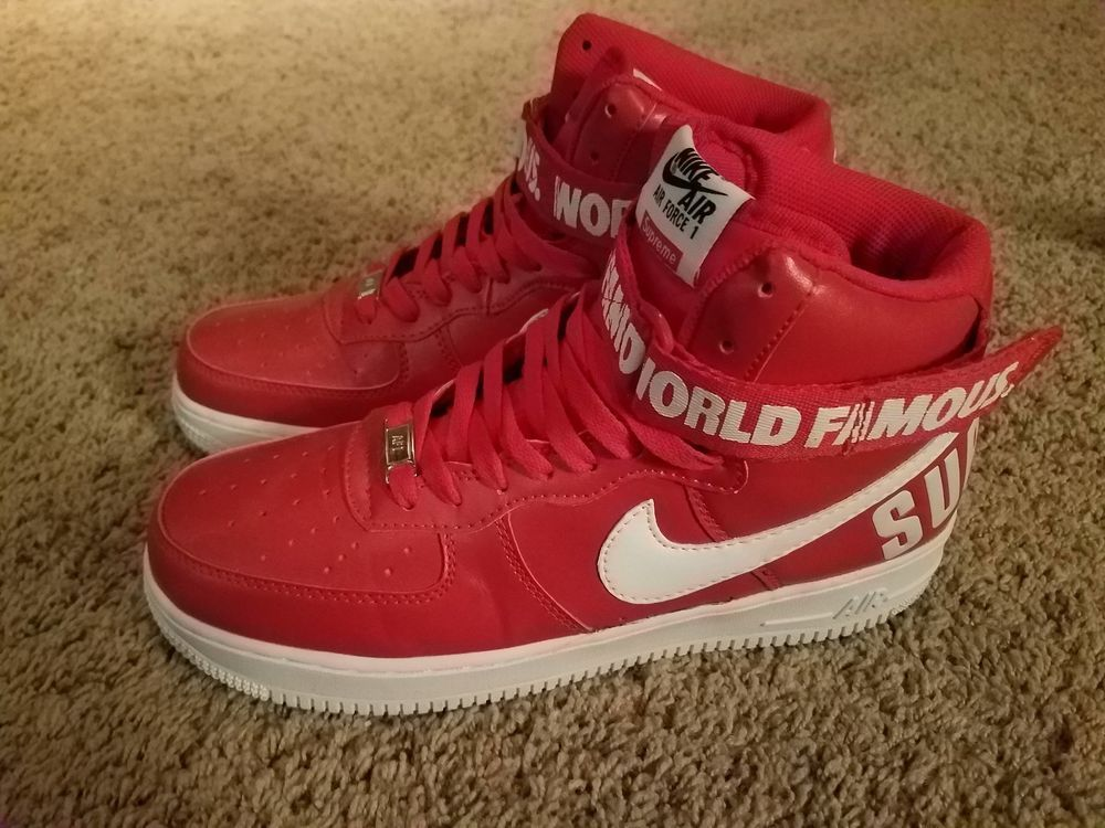 Nike Air Force 1 High Supreme Red FW14 Size 9.5 Air Max 98