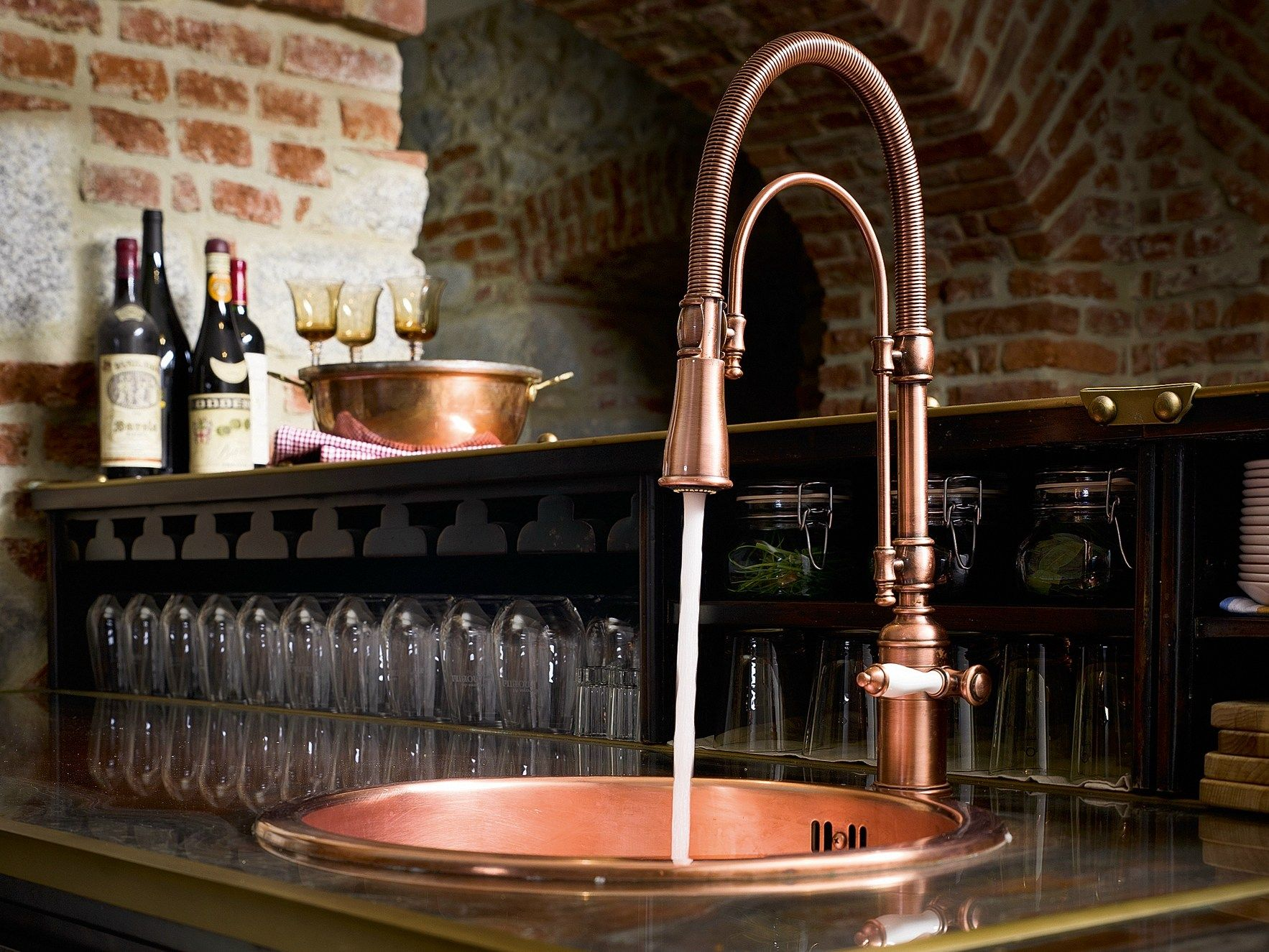 CHARLIE | 1 hole kitchen mixer tap By Nobili Rubinetterie | Kitchen ...