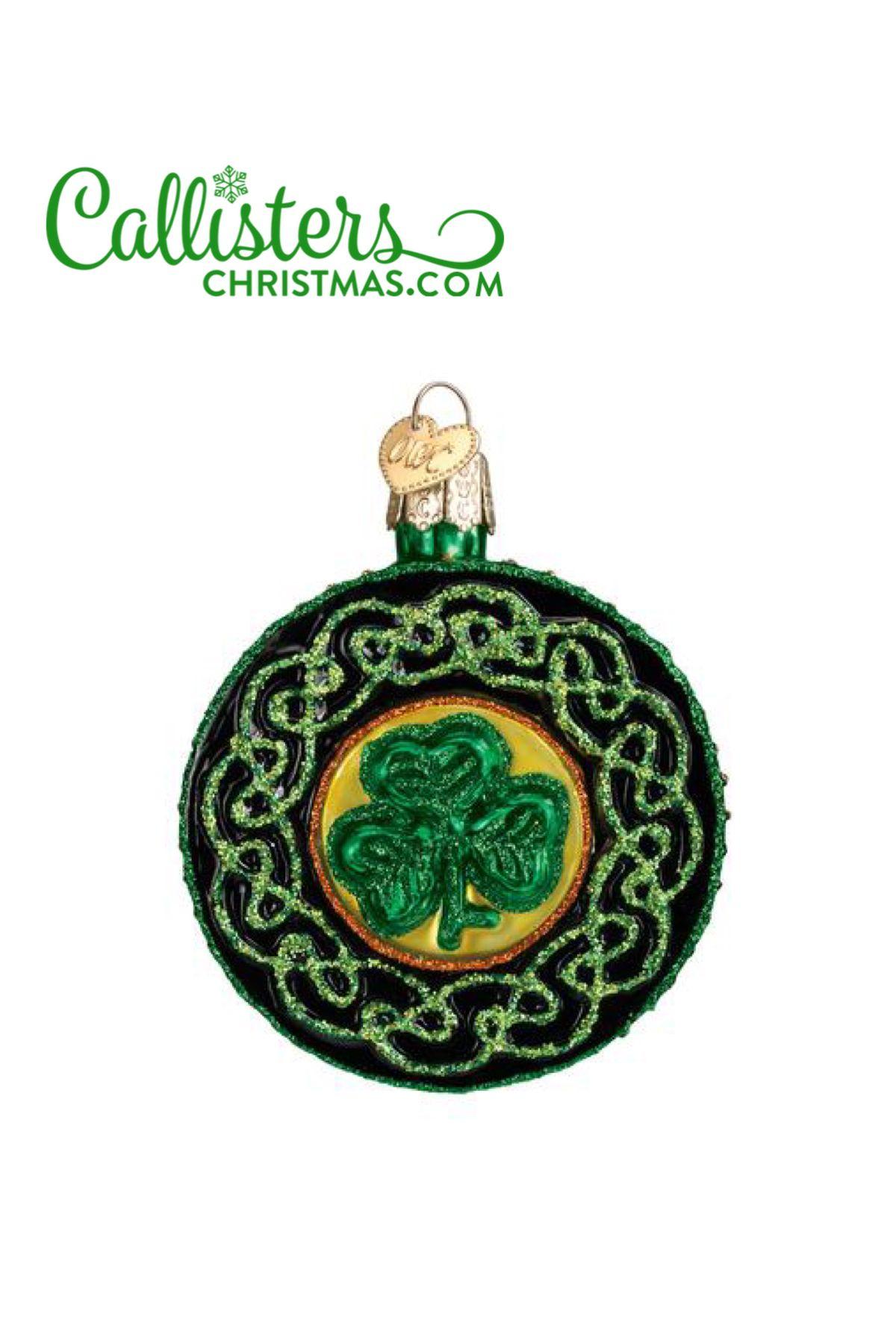 Celtic Brooch Ornament Irish gifts, Old world christmas