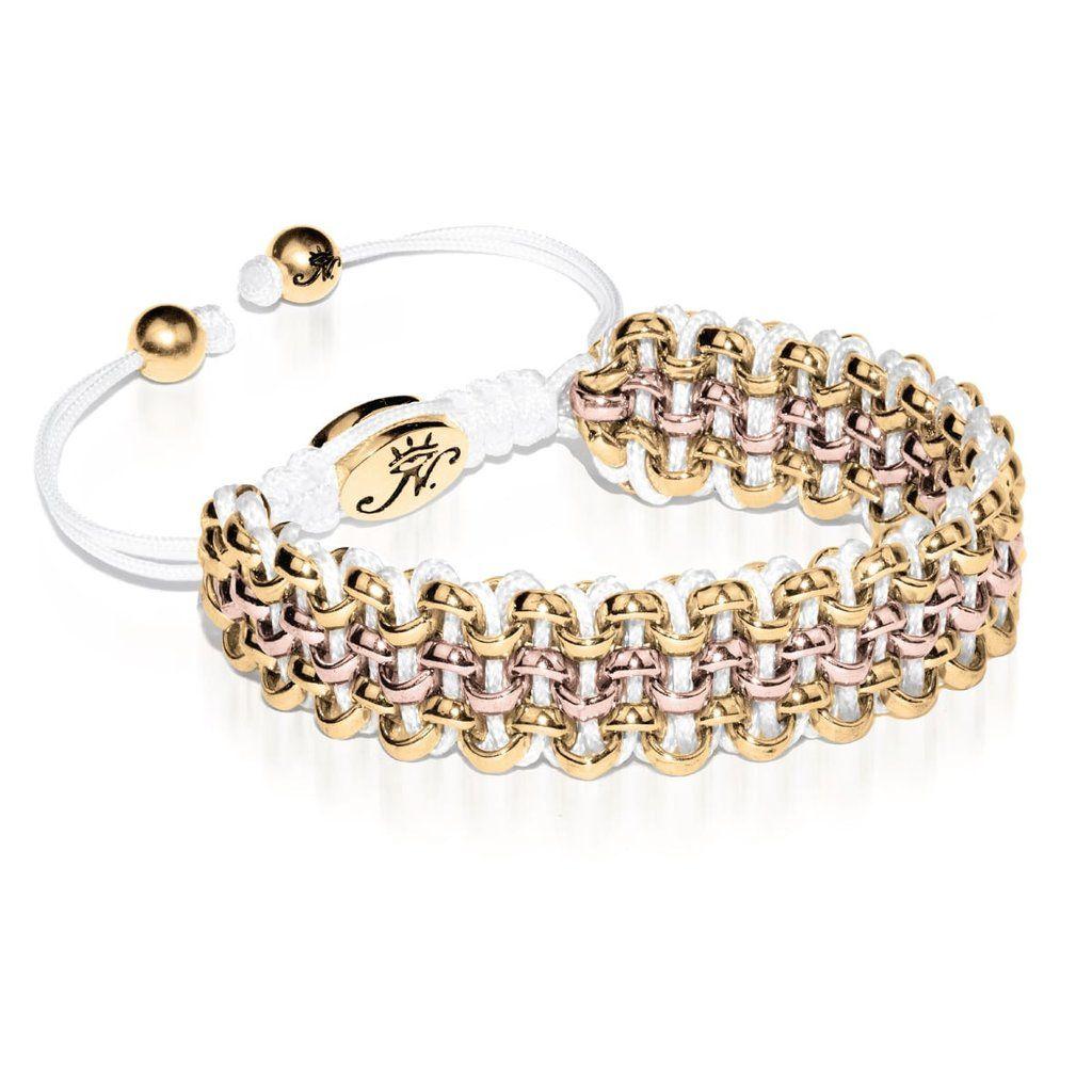Two-Tone Gold Kismet Links Bracelet   Snow