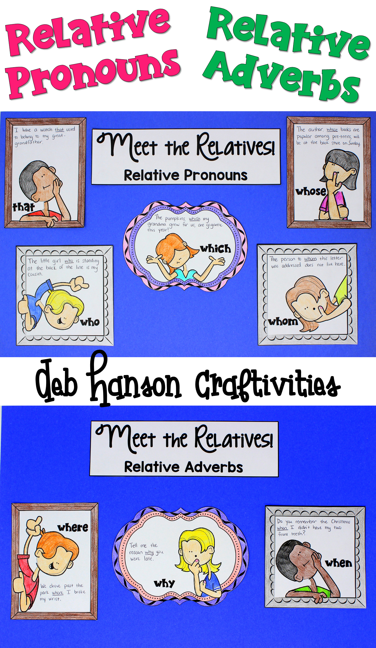 Relative Pronouns Amp Relative Adverbs Two Craftivities