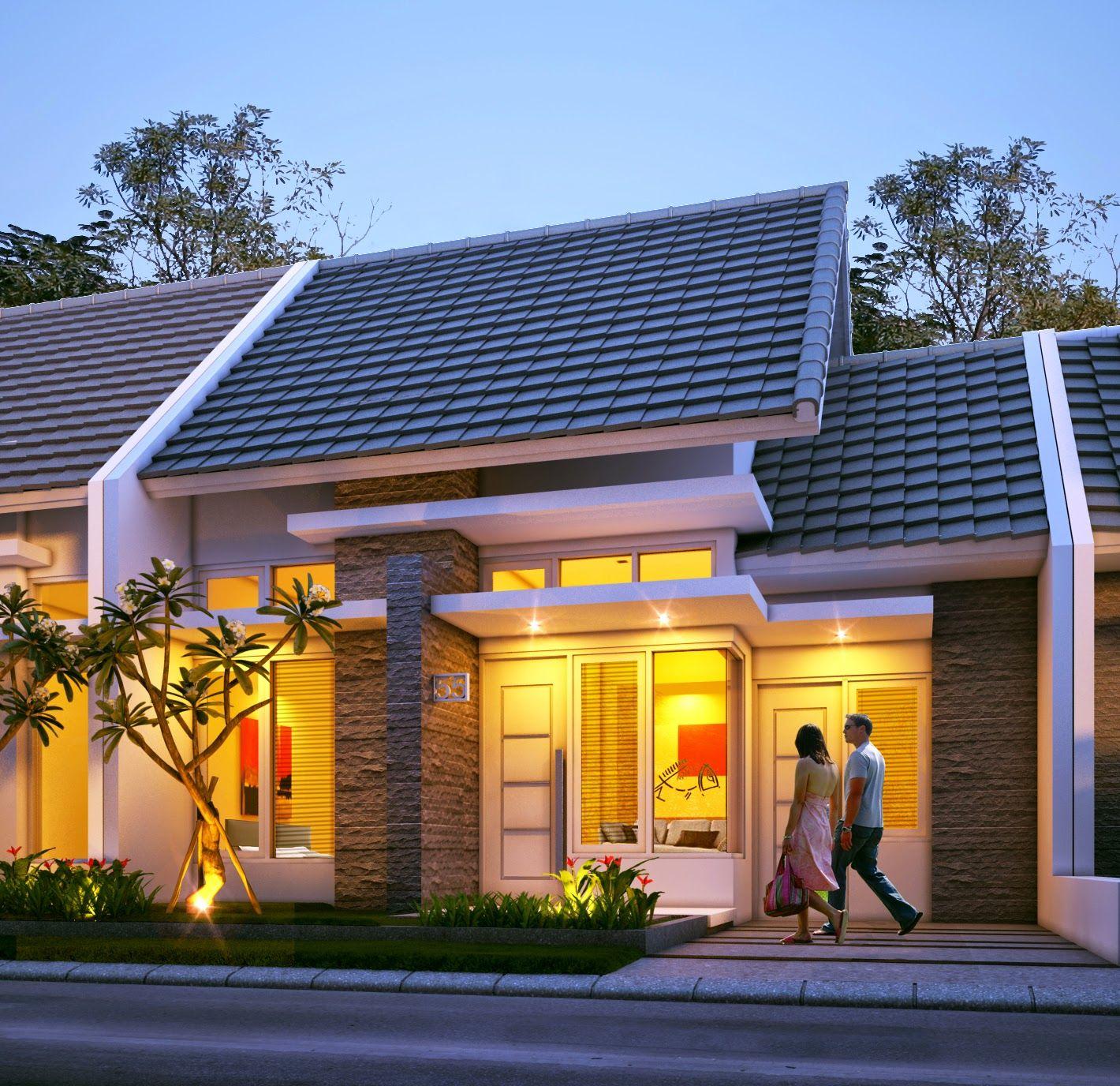 Rumah minimalis type 45 1 lantai Desain rumah, Dekorasi