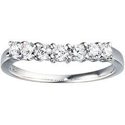 Slight Curved 7 Stone Diamond Wedding Band From Steven Singer Jewelers