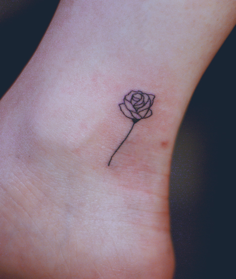 Outline Rose Tattoo On Ankle Tiny Rose Tattoos Rose Tattoo On Ankle Ankle Tattoo