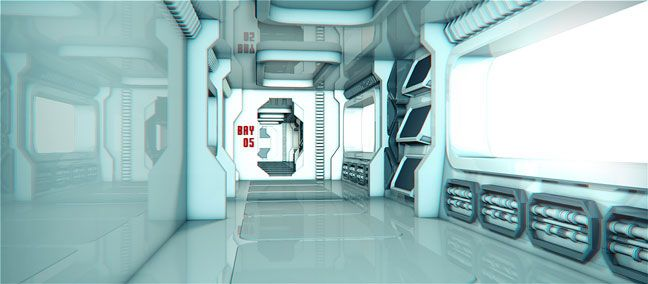 Free C4D 3D Model: Sci Fi Room Environment | Digital Resources | Sci