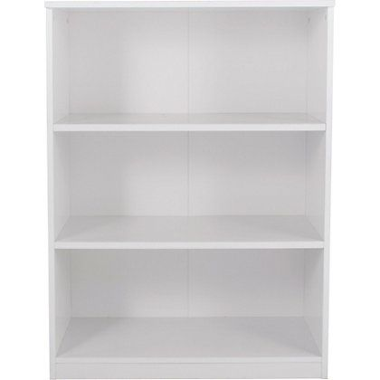 Homebase Part Of Our Pagnell Range This Wood Effect Bookcase In White Features Three Fixed