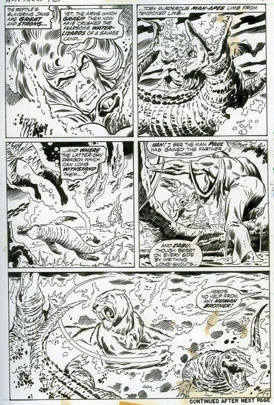 Astonishing Tales 12, pg.7 Ka-Zar Comic Art