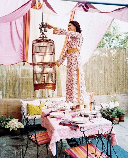 Querido Refúgio - Decoração: + Ideias com almofadas e tecidos: Jardim e varanda!