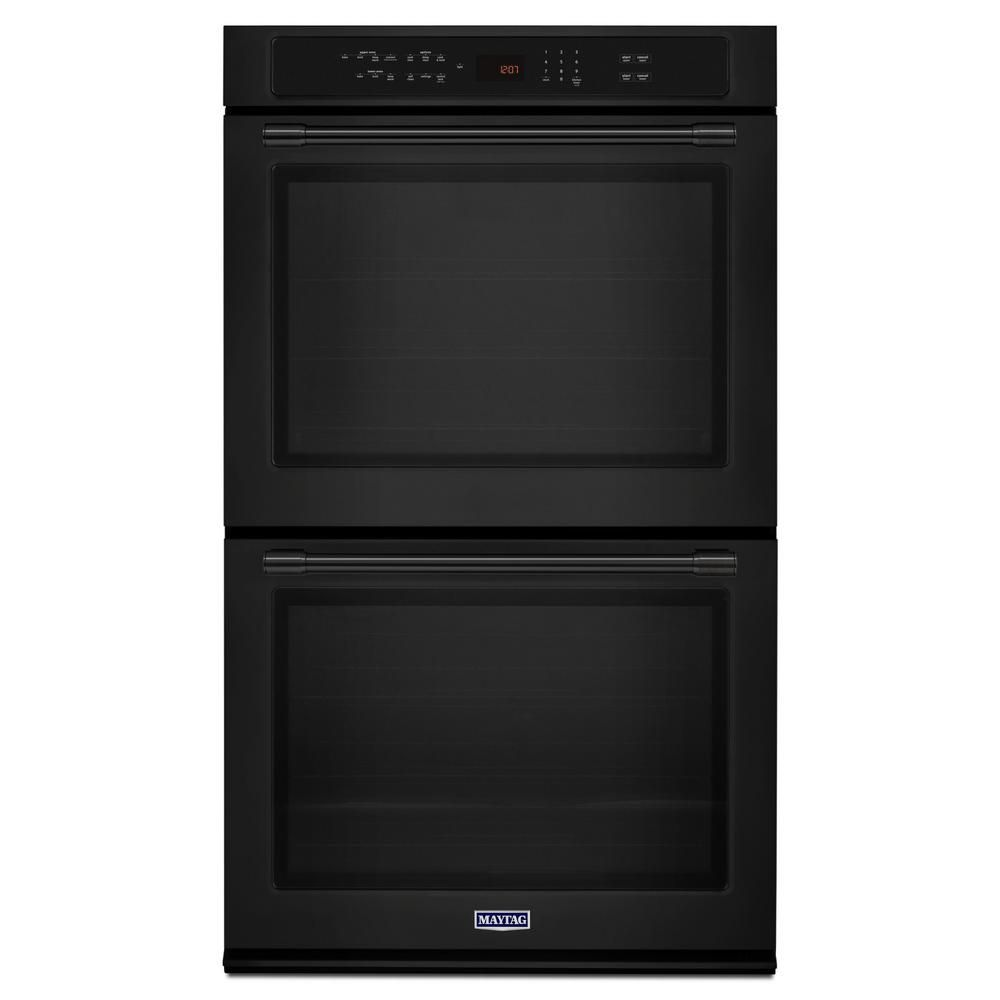 Maytag 27 In Double Electric Wall Oven With Convection In Black Electric Wall Oven Wall Oven Gas Wall Oven