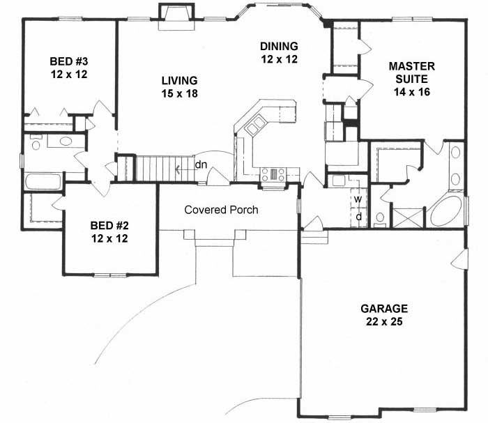 Main Floor Plan 25 171 Bungalow Style House Plans Ranch House Plans Craftsman Style House Plans
