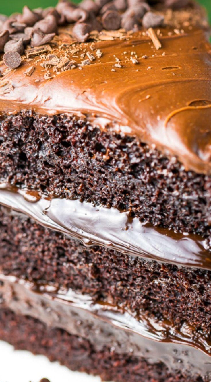 Death by Chocolate Cake | Recipe | Mini chocolate chips, Chocolate ...