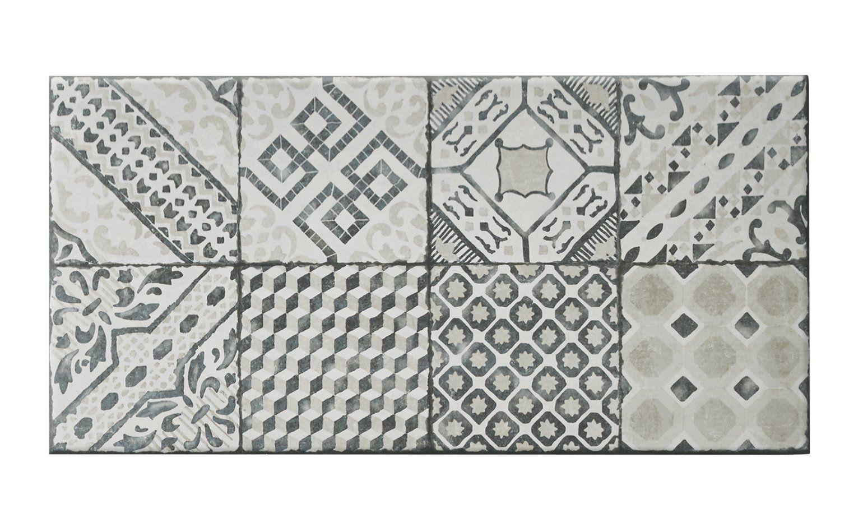 carrelage orion aspect carreaux de ciment multicolore dim 30 5 x 61 cm saint maclou. Black Bedroom Furniture Sets. Home Design Ideas