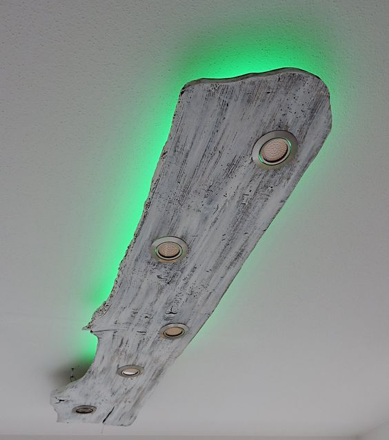 Led Flaschen Beleuchtung Selber Bauen : deckenlampe mit led spots und indirekter led beleuchtung im shabby look decko lampen ~ Watch28wear.com Haus und Dekorationen