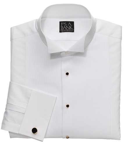 Formal Shirt White Pique Wing Tip Collar USED