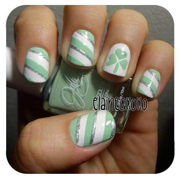 Stripped St. Patty\'s Day Mani | by єℓαιиє Q - INK361 | Nails ...
