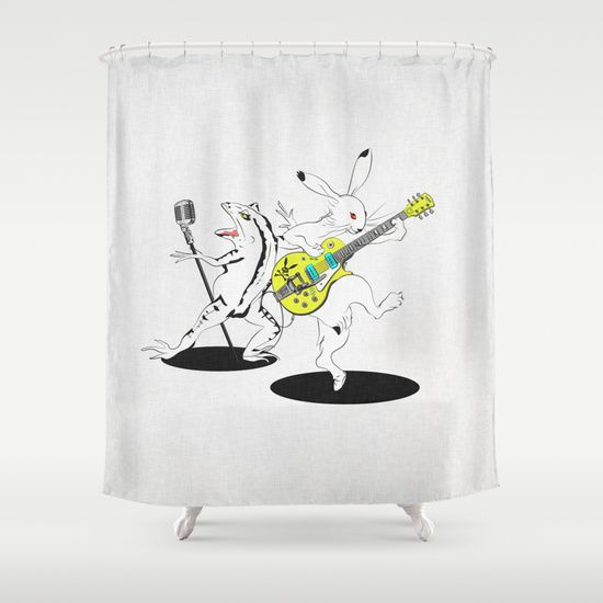 Music to Jump -鳥獣GIGA2015- Shower Curtain by SEVENTRAPS | Society6