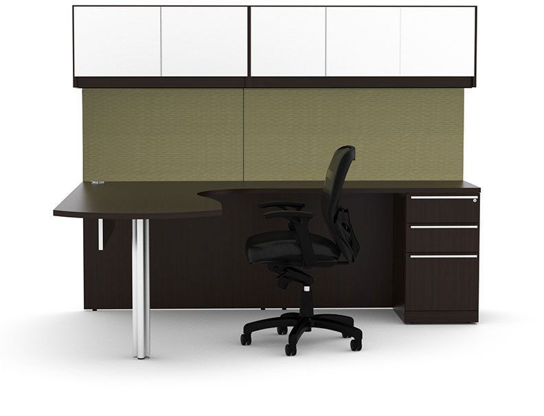 7pc L Shape Modern Executive Office Desk Set, #CH-VER-L5 | Ideas ...