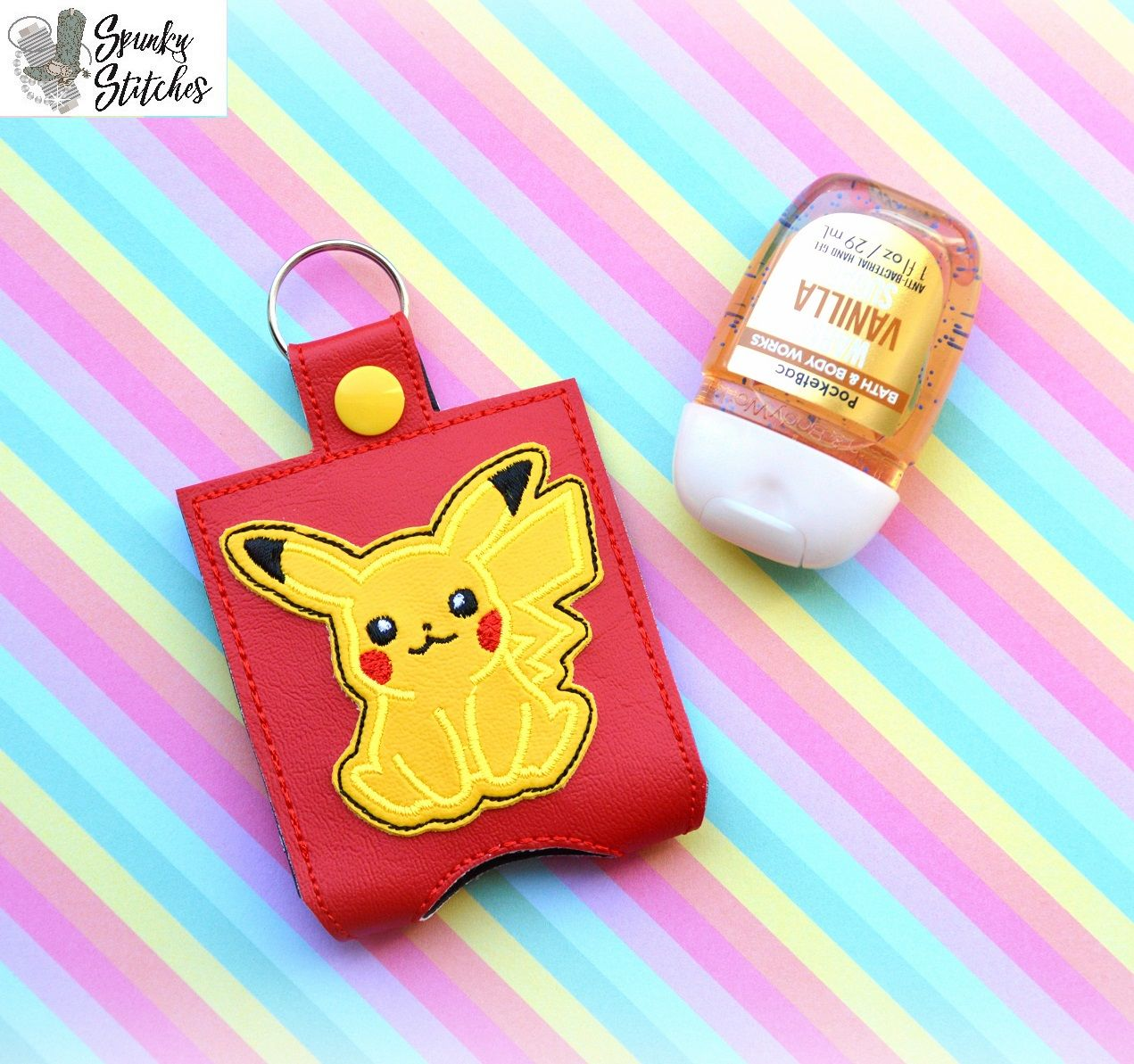 Pikachu Sanitizer Holder Key Fob Hand Sanitizer Holder
