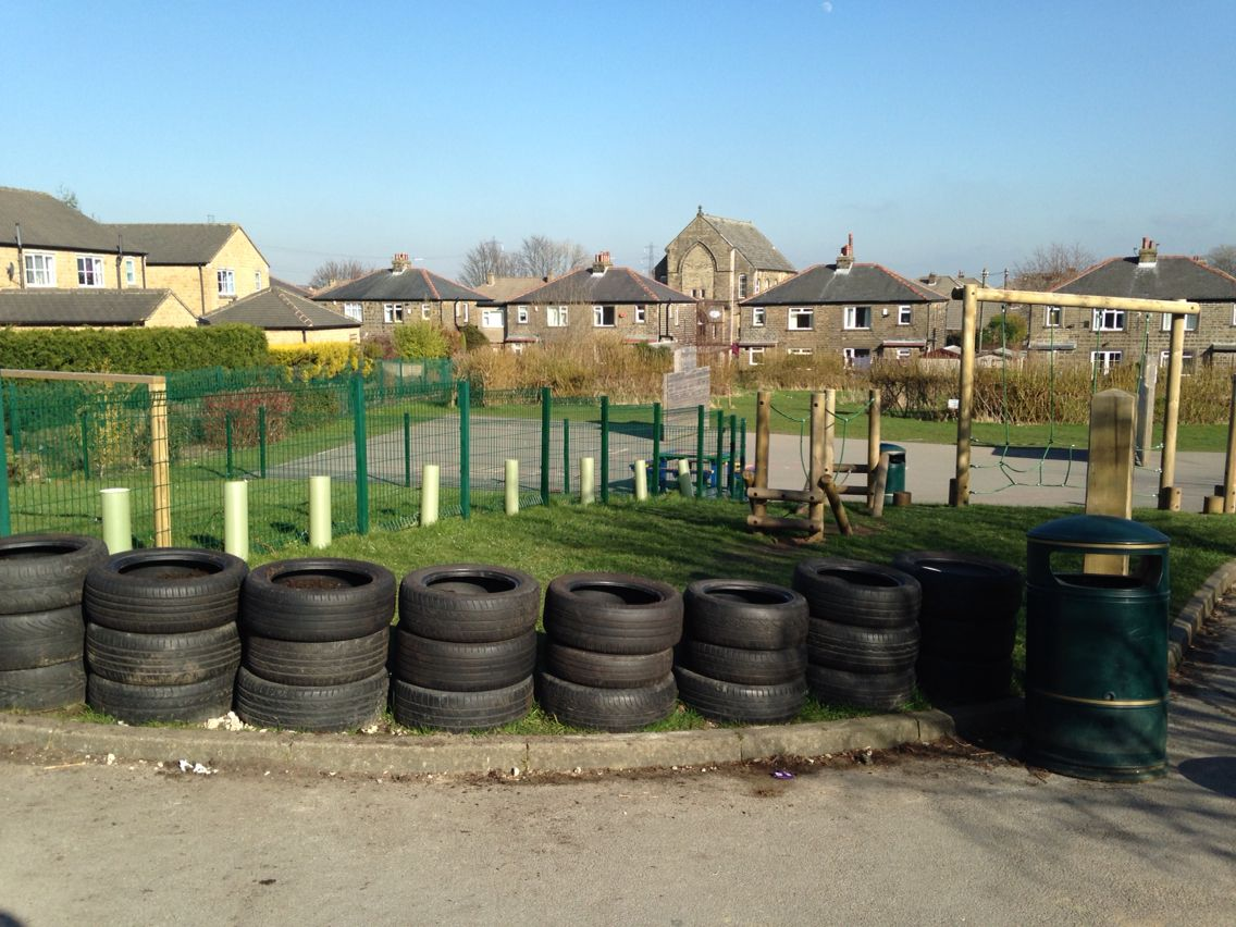 Boundary Tyre Wall For Year 1 Outdoor Space