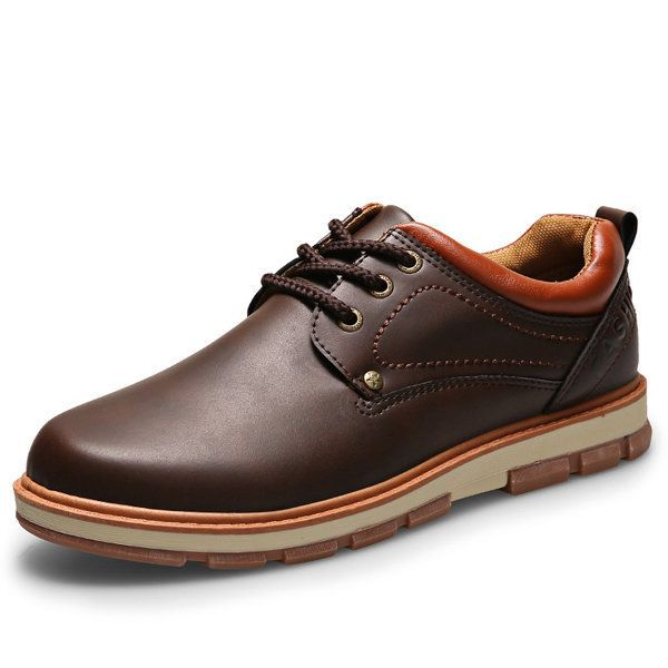 Men Metal Eyelets Pure Color Lace Up Casual Oxford Shoes Men Metal Eyelets Pure Color Lace Up Casual Oxford Shoes