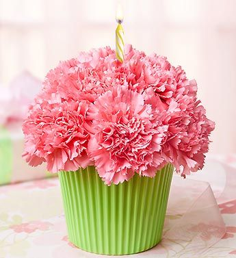 Cupcake In Bloom Pink From 1 800 Flowers Com 91880 Birthday Flowers Flower Arrangements Fresh Flowers Arrangements
